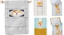 日本超可愛柴犬抹手布 兩層設計解放柴犬