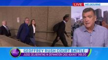Closing arguments conclude in Geoffrey Rush case