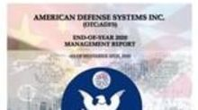 American Defense Systems (OTC:ADFS) Releases Plans and Projections for 2021