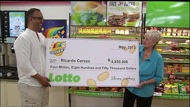 RAW: Man claims lotto prize after finding ticket