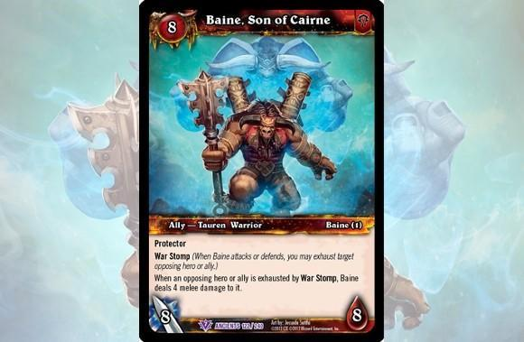 Baine Bloodhoof stomps his way into WoW TCG's War of the Ancients