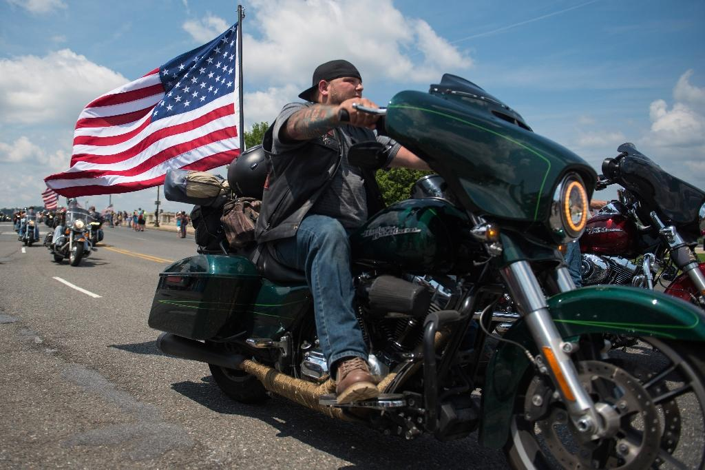 Thousands of bikers and military veterans take part in the annual Rolling Thunder motorcycle parade in Washington, on Memorial Day weekend (AFP Photo/Eric BARADAT)