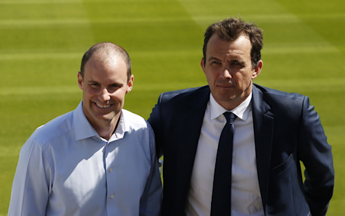 Andrew Strauss and Tom Harrison