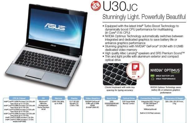 Gigantic ASUS periodical reveals and specs numerous new laptops