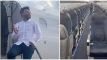 Man records flight on his 'own private jet' after realizing he's the sole passenger