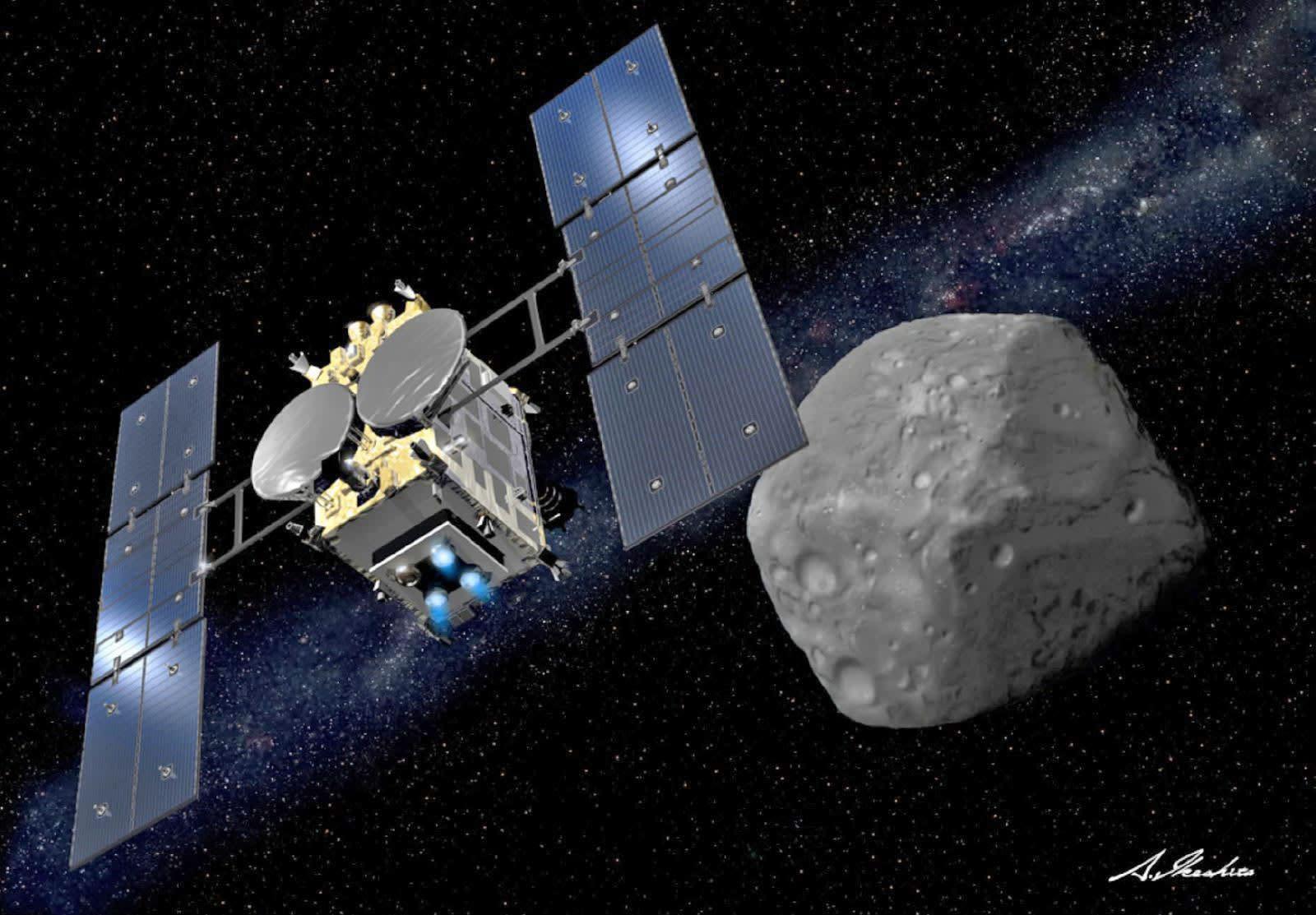 Hayabusa 2 will finally start mining an asteroid on February 22nd | Engadget