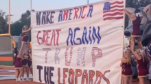 Cheerleaders at Arkansas high school under fire for 'Make America Great Again' banner