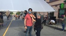 Cast and crew of pandemic-themed movie relieved to be back at work