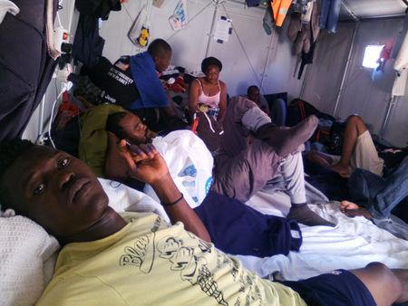 Congolese basketball player Christ Wamba takes a selfie as he rests inside a tent at the Moria camp for refugees and migrants on the island of Lesbos, Greece, June 5, 2016. Christ Wamba/Handout via REUTERS