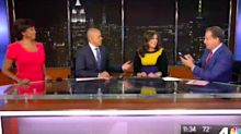 TV Reporter's Water Breaks Right At This Moment During Newscast