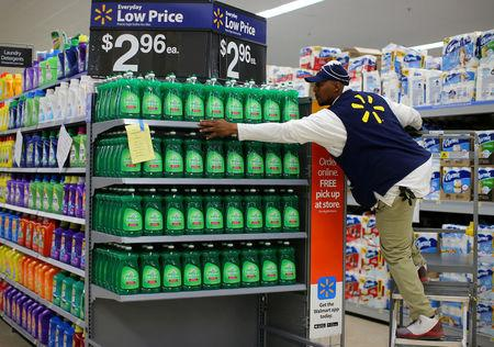 Walmart stumbles with its last mile package delivery plan file photo a worker sets up a display of dish washing liquid in prepare for malvernweather Gallery