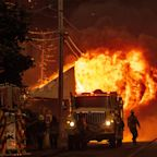 Wildfire takes aim at northern California town, leveling businesses and homes
