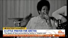 The world prays for Aretha Franklin