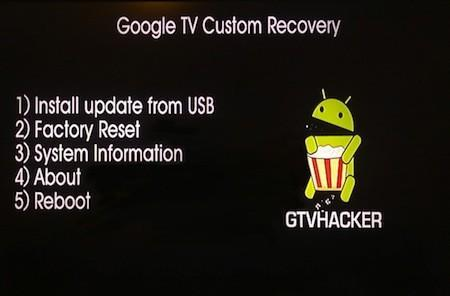 GTVHacker shows off custom recovery for Google TVs (video)