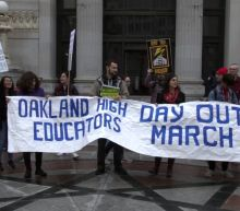 Oakland High School teachers participate in one-day, unsanctioned strike