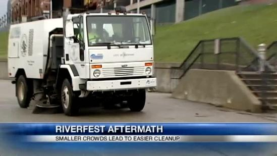 Small event turnout speeds up Riverfest cleanup