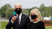 Joe Biden mocked by Donald Trump after wearing face mask at Memorial Day event