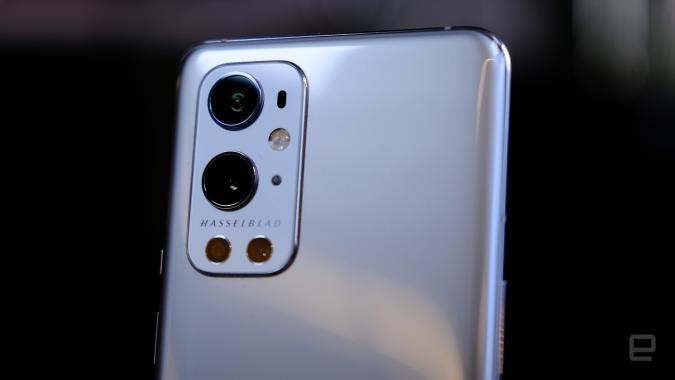 Hasselblad camera array on OnePlus 9