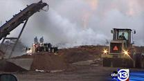 Mulch fire still smoldering at Richmond company