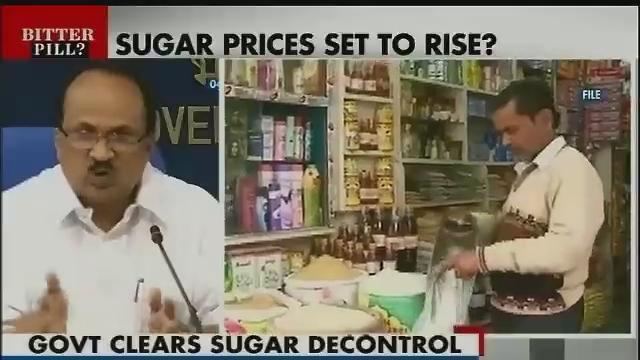 Govt decontrols Rs 80000 crore sugar industry, prices may rise