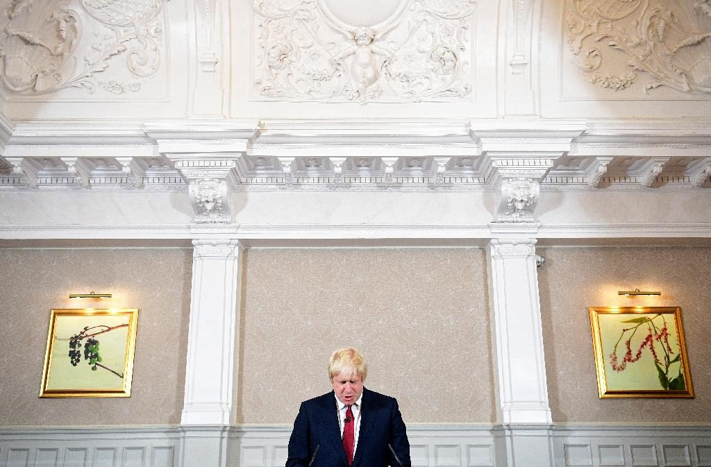 Brexit campaigner and former London mayor Boris Johnson addresses a press conference in central London on June 30, 2016