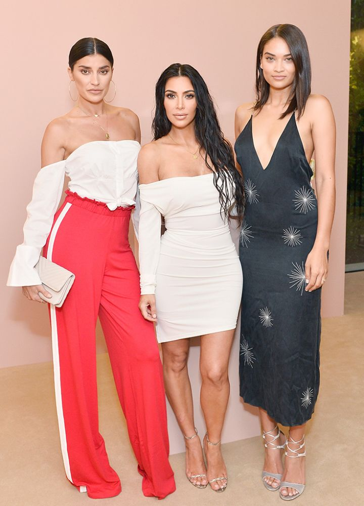 Shanina Shalk; Kim Kardashian West and Nicole Williams celebrates The Launch Of KKW Beauty