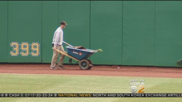 Grounds Crew Work Hard To Get Field Ready For Opening Day