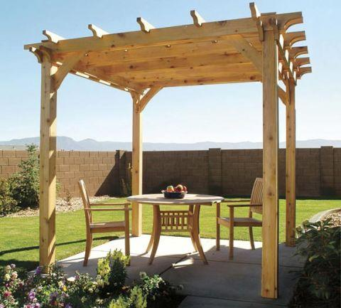 """<p>A pergola will define your backyard and creates an inviting outdoor dining space you'll want to enjoy for every meal. This project can be completed with the right tools and the help of a few friends.</p><p><a href=""""http://www.popularmechanics.com/home/how-to-plans/how-to/a760/how-to-build-a-pergola-plans/"""" rel=""""nofollow noopener"""" target=""""_blank"""" data-ylk=""""slk:How to Build a Pergola"""" class=""""link rapid-noclick-resp"""">How to Build a Pergola</a></p>"""