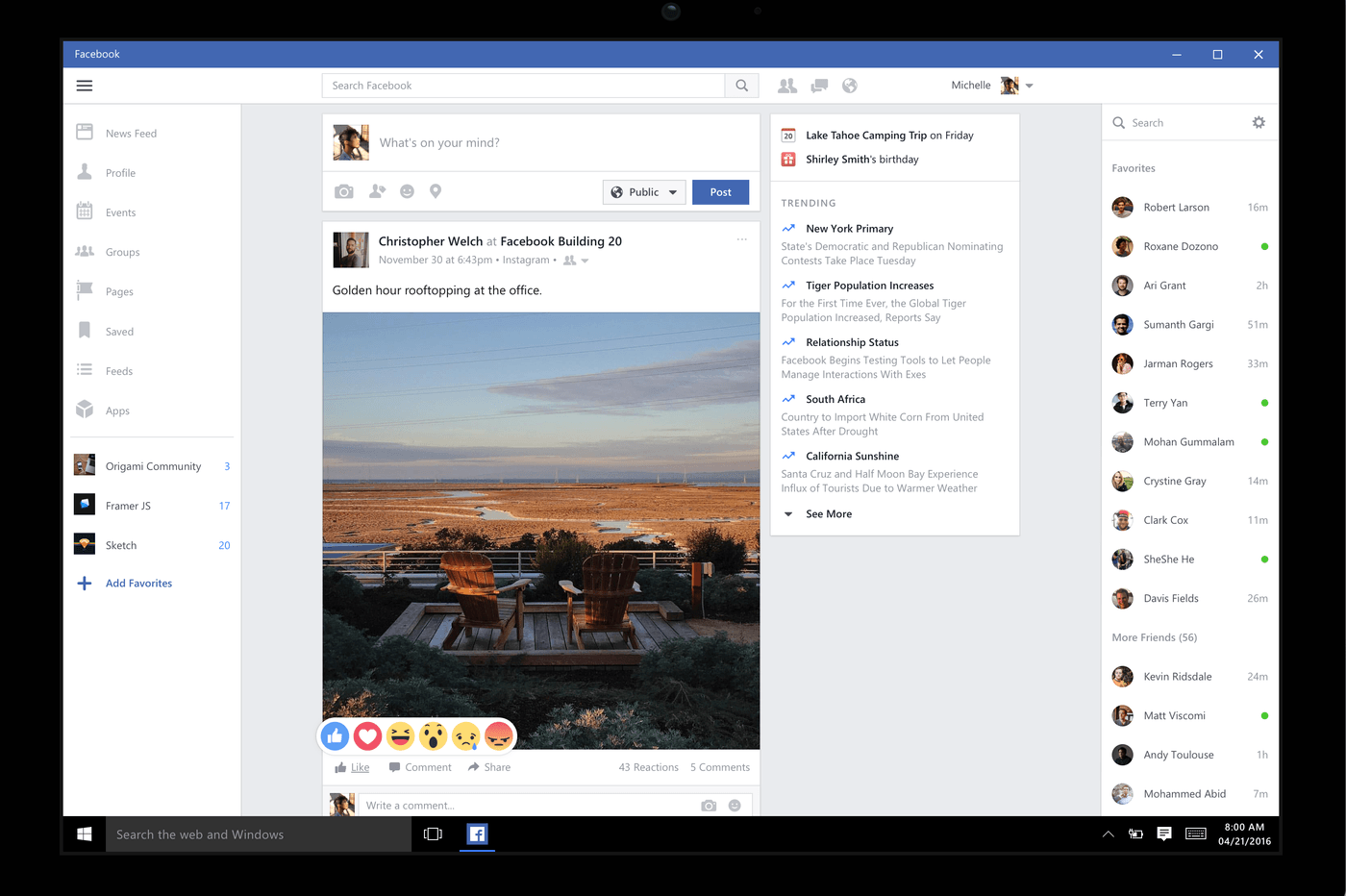 Facebook lets you make voice and video calls with Windows 10 app update