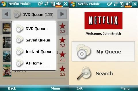 Windows Mobile Manager for Netflix includes streaming video previews