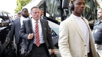Butch Jones gets soaked after beating old team