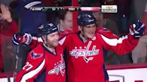 Ovechkin roofs one-timer from a sharp angle