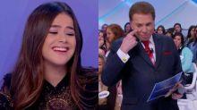 Maisa Silva dispara para Silvio Santos: 'Você é um coroa bonito'