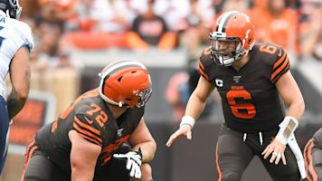 Sources: Browns trying to get Baker some help on OL