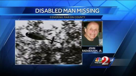 Marion County deputies searching woods for disabled man