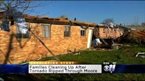 Families Cleaning Up After Storms In Moore, Oklahoma
