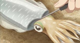 放學後:捕獲巨大烏賊 一捅變透明