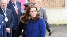 Kate Middleton proves black and blue can look fashionable