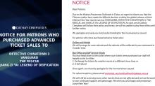 Wuhan virus outbreak: Singapore cinema chains postpone screenings of 4 Chinese films