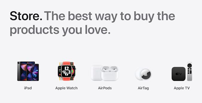 Apple restores the dedicated 'Store' tab to its website