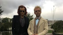 'Good Omens': David Tennant, Michael Sheen Suit Up For Amazon – First Photo