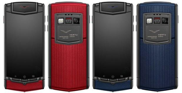 Vertu Ti now available in red or blue limited editions, only 1,000 of each made