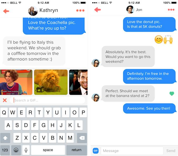 Tinder says GIFs and emoji lead to better connections