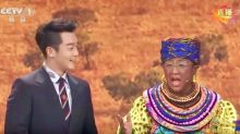 China's state TV ran a racist skit with blackface as Africans for its Lunar New Year show
