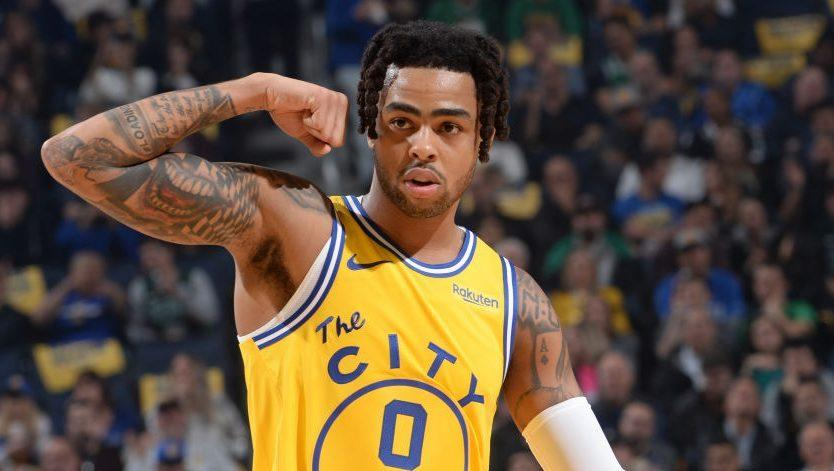 UPDATE: Warriors' D'Angelo Russell out at least two weeks with sprained thumb (VIDEO)