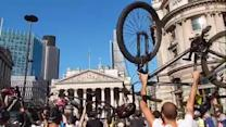 Cyclists stage die-in protest at Bank junction after death