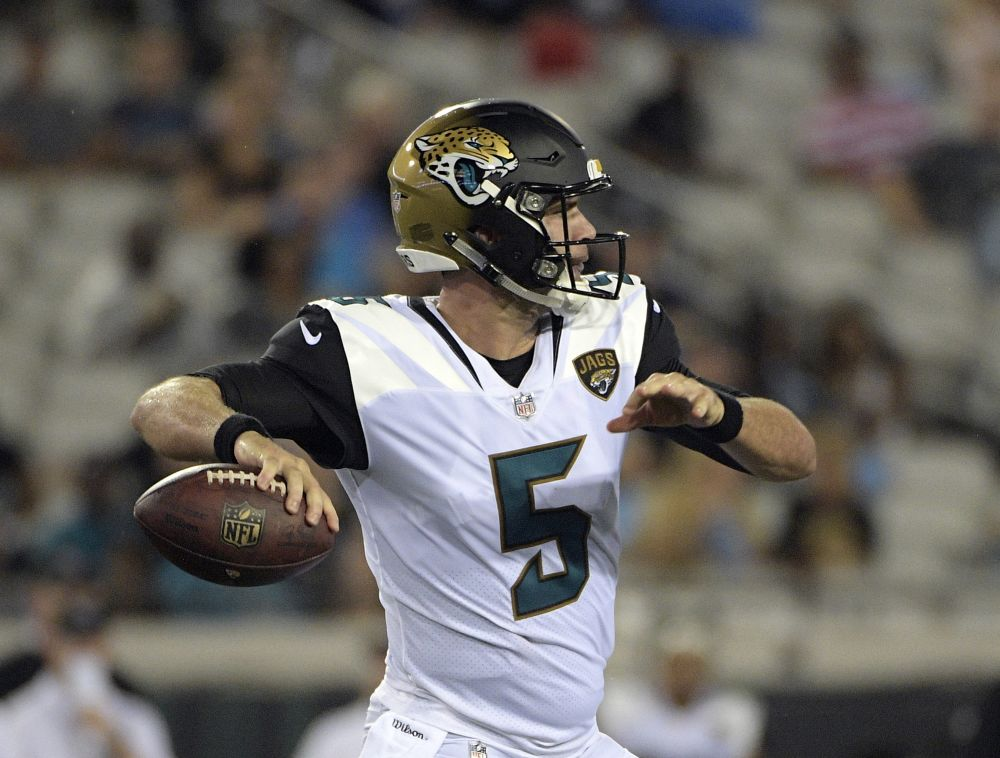 Blake Bortles will be looking over his shoulder this season, however he was good enough to hold the starting job entering Week 1. (AP)