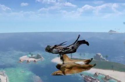 ArcheAge video features people in bear suits and flying sloths