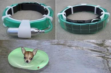Float-a-Pet inflatable collar helps track, save dog's life