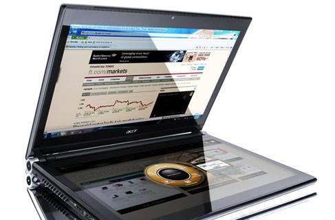 Acer reveals Iconia dual-screen laptop / tablet, Clear.fi cloud-based media sharing system